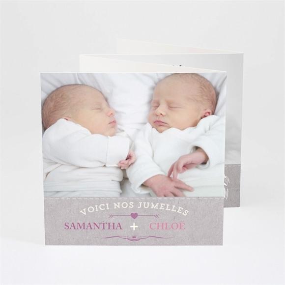 Faire-part naissance Vive les jumeaux réf.N83012