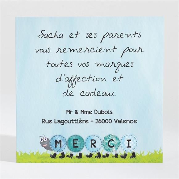 Remerciement naissance Notre petit Escargot réf.N300395