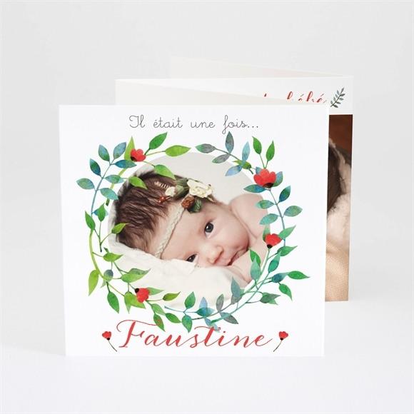 Faire-part naissance Petites fleurs champêtres réf.N83019