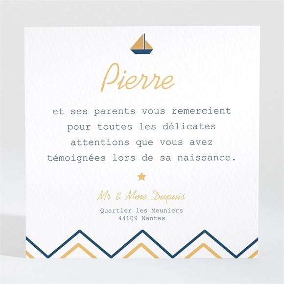 Remerciement naissance Mon Petit Matelot réf.N300412