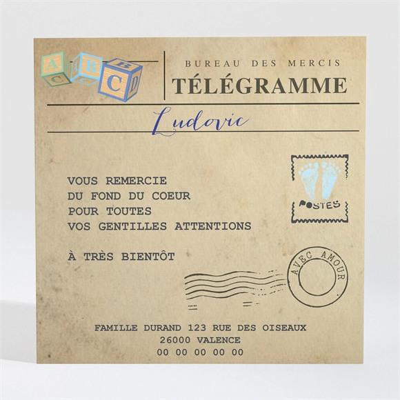 Remerciement naissance Mon petit Passeport réf.N300414