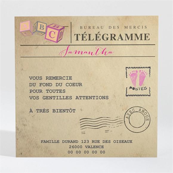Remerciement naissance Son Télégramme réf.N300415