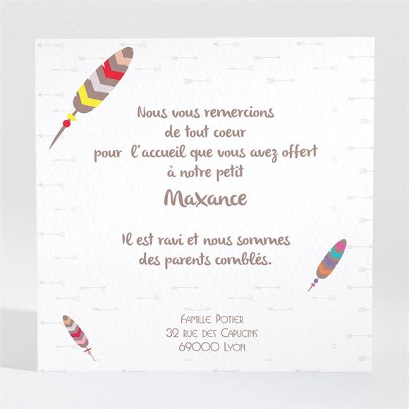 Remerciement naissance Petit Indien Renard réf.N300419