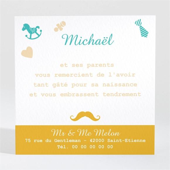 Remerciement naissance Petit Gentleman réf.N300421