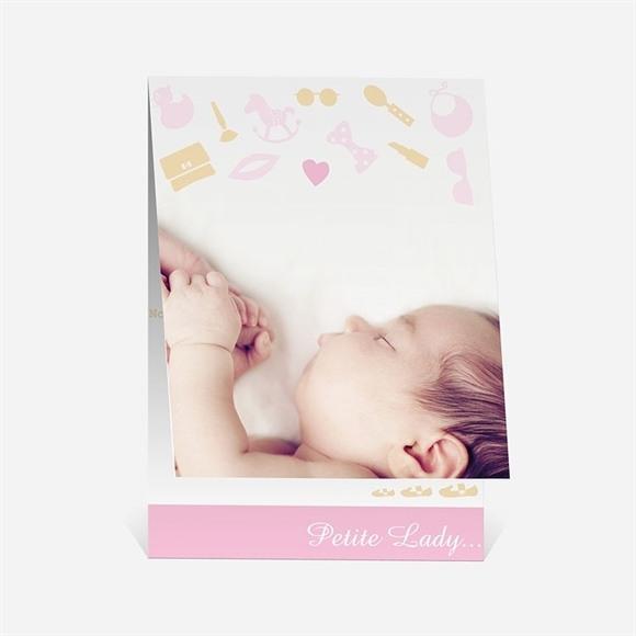 Faire-part naissance Petite Lady réf.N50155