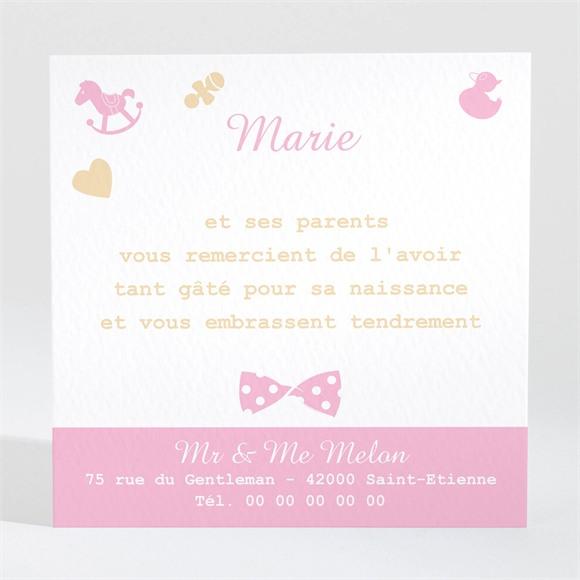 Remerciement naissance Petite Lady réf.N300422