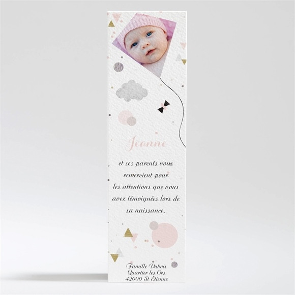 Remerciement naissance Cascade de bonheur réf.N200321