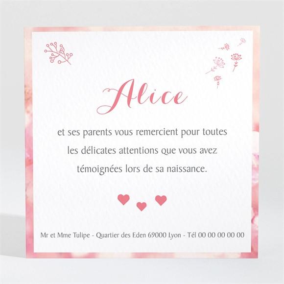 Remerciement naissance Douceur et rêveries réf.N300427