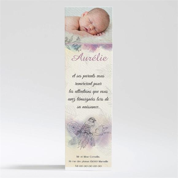 Remerciement naissance Jolies couleurs pour fille réf.N200323