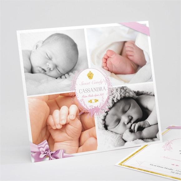 Faire-part naissance Mosaïque 4 photos réf.N311118