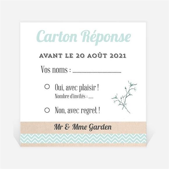 Carton réponse anniversaire de mariage On re-célèbre! réf.N300454