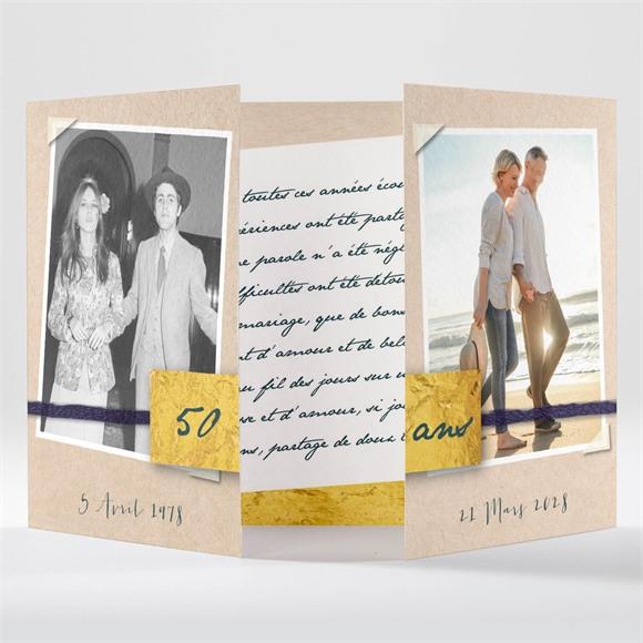 Invitation anniversaire de mariage Notre bonheur réf.N70153