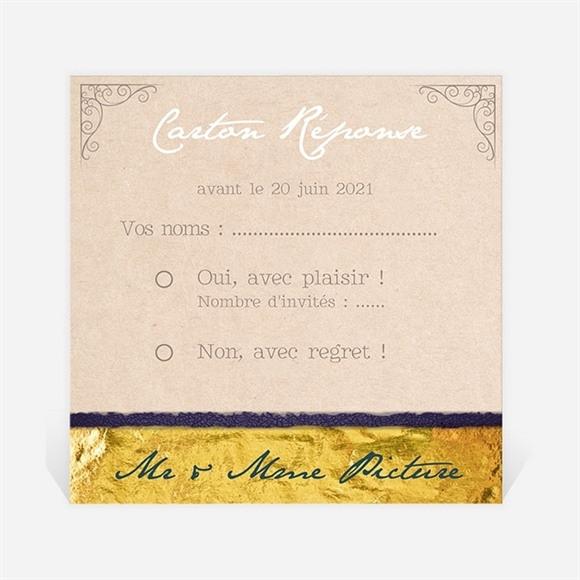 Carton réponse anniversaire de mariage Notre bonheur réf.N300455