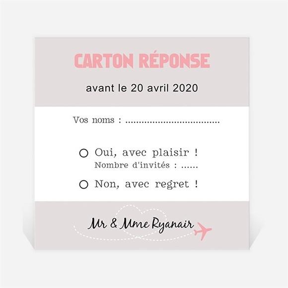 Carton réponse anniversaire de mariage Invitation Air Union réf.N300456