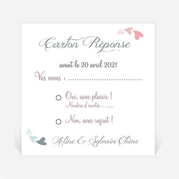 Carton réponse anniversaire de mariage Notre Alliance réf.N300457