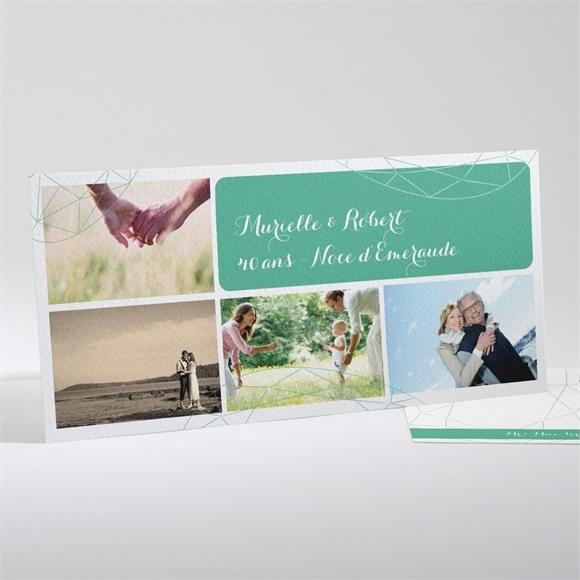 Invitation anniversaire de mariage Carte à photos réf.N13135