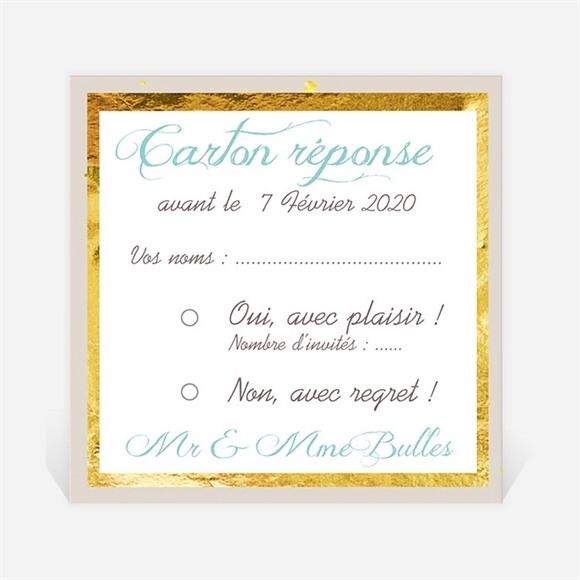 Carton réponse anniversaire de mariage Invitation Photo originale réf.N300459