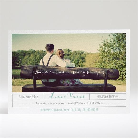 Invitation anniversaire de mariage Carte anniversaire photo réf.N14025