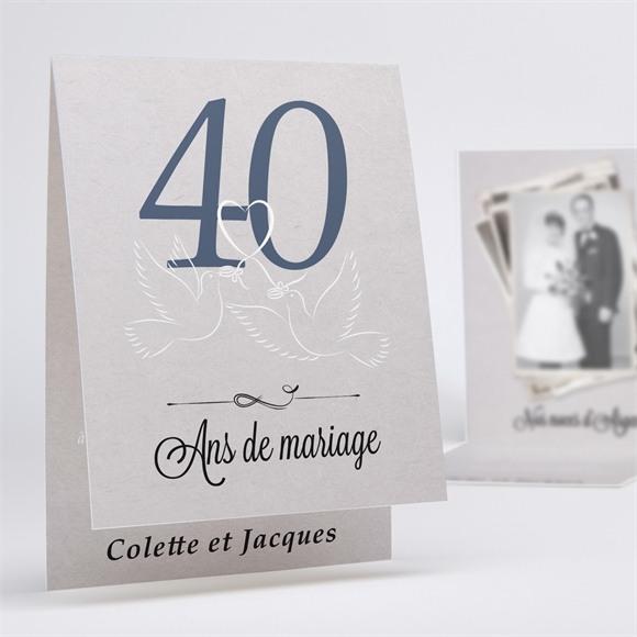 Invitation anniversaire de mariage La fête de nos années réf.N50158