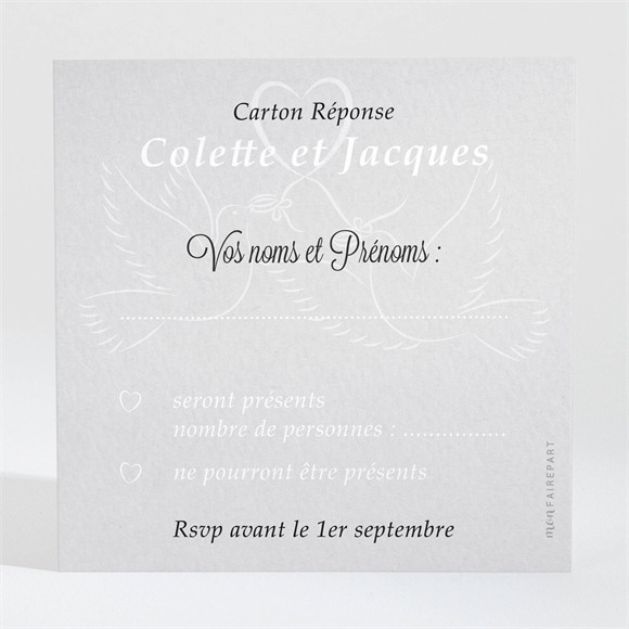 Carton réponse anniversaire de mariage La fête de nos années réf.N300464