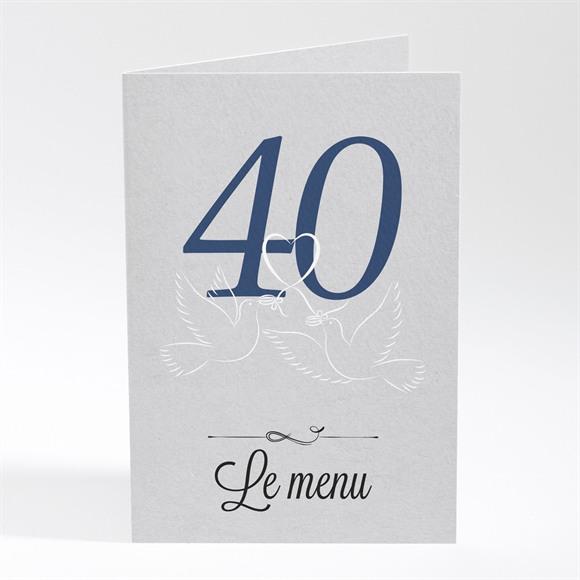 Menu anniversaire de mariage La fête de nos années réf.N401477