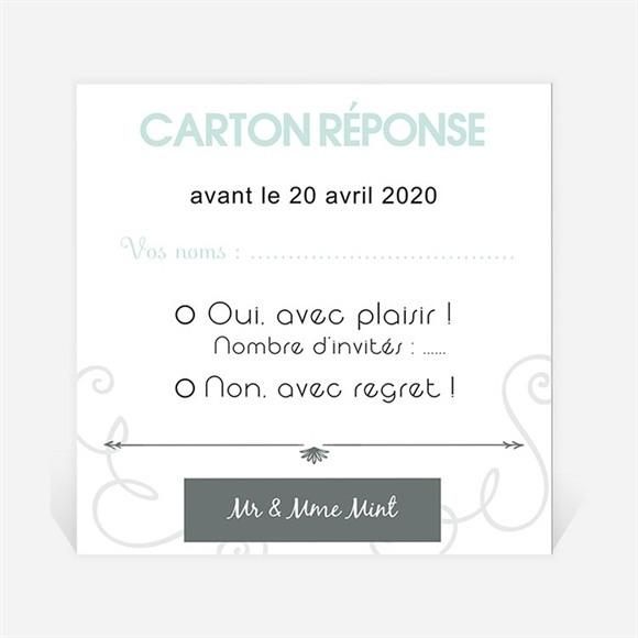 Carton réponse anniversaire de mariage Création originale réf.N300465