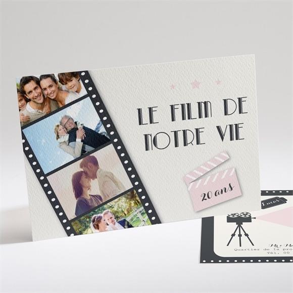 Invitation anniversaire de mariage Le Film de notre Vie réf.N14160