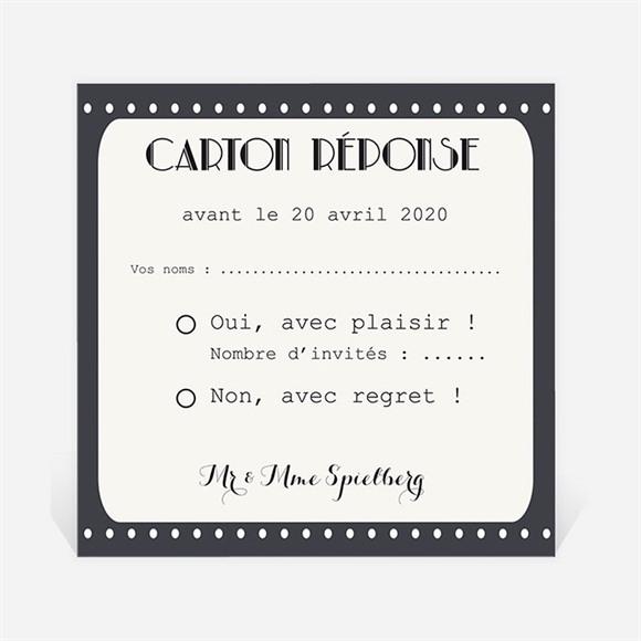 Carton réponse anniversaire de mariage Le Film de notre Vie réf.N300467