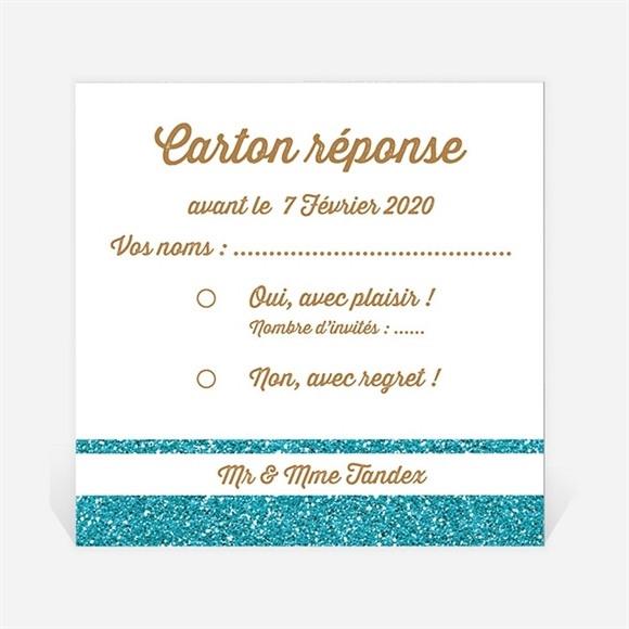 Carton réponse anniversaire de mariage Notre Tandem réf.N300469