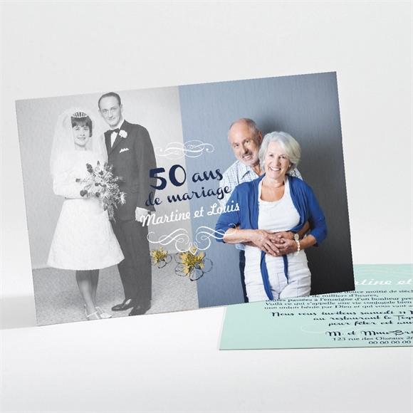 Invitation anniversaire de mariage Nos Beaux souvenirs réf.N11156