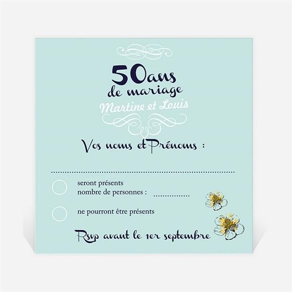 Carton réponse anniversaire de mariage Nos Beaux souvenirs réf.N300471