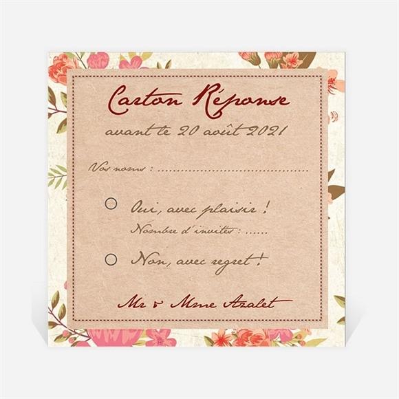 Carton réponse anniversaire de mariage Carte invitation classique réf.N300470