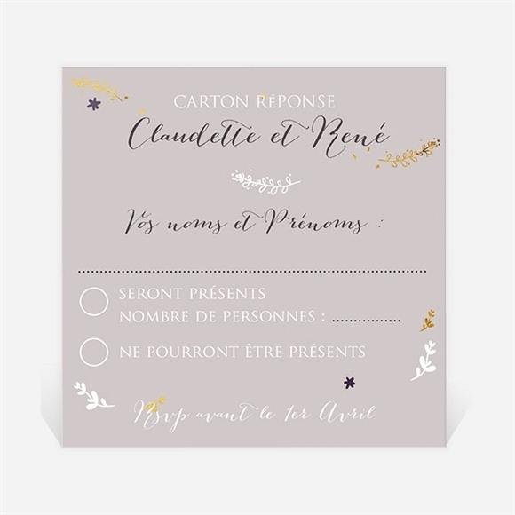 Carton réponse anniversaire de mariage Carte invitation avec photo réf.N300473