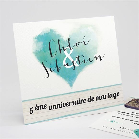 Invitation anniversaire de mariage Fraîcheur et romantisme réf.N311128