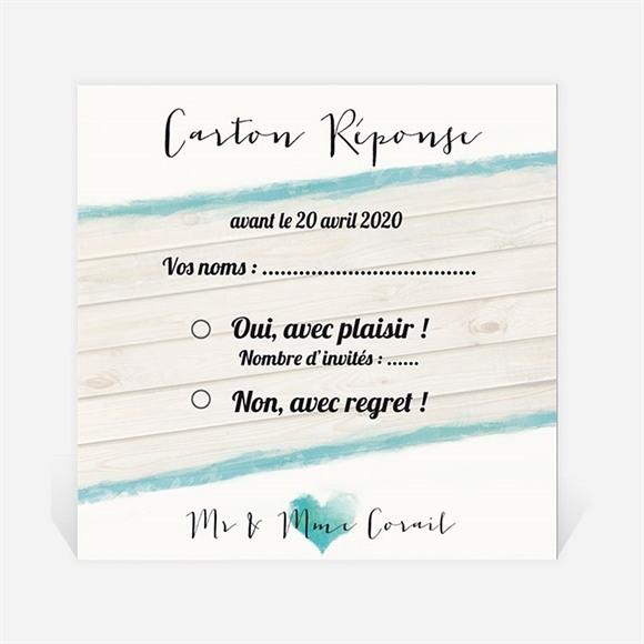 Carton réponse anniversaire de mariage Fraîcheur et romantisme réf.N300476