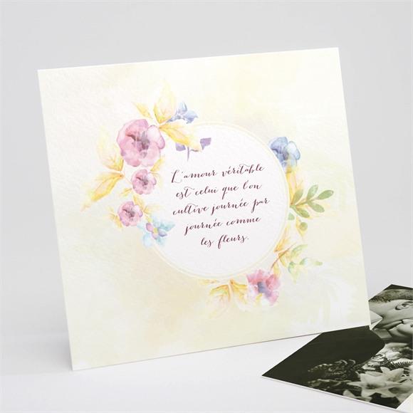 Invitation anniversaire de mariage Invitation Jardin fleuri réf.N311129