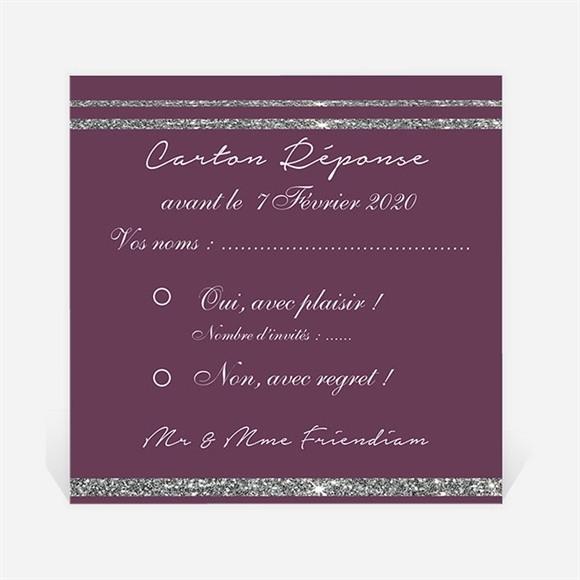Carton réponse anniversaire de mariage Noces d'argent ensemble! réf.N300478