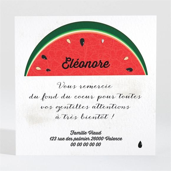 Remerciement naissance Jolie pastèque réf.N300479