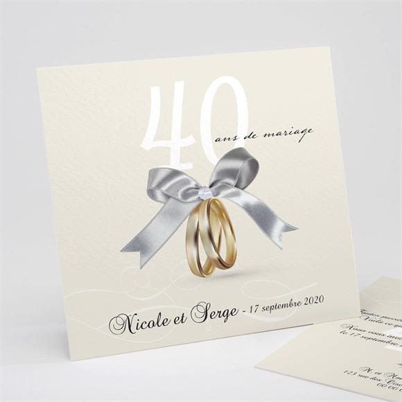 Invitation anniversaire de mariage Romantisme réf.N311130