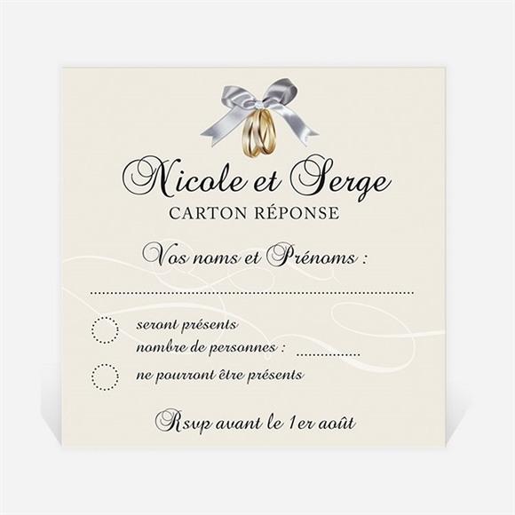 Carton réponse anniversaire de mariage Romantisme réf.N300480