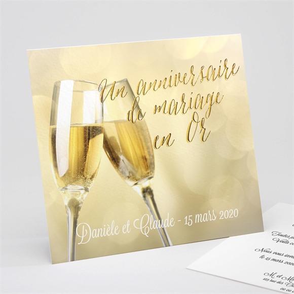 Invitation anniversaire de mariage Célébrons nos noces d'Or ! réf.N311131