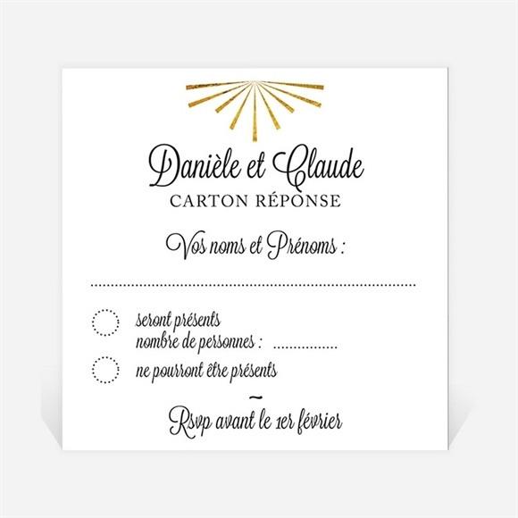Carton réponse anniversaire de mariage Célébrons nos noces d'Or ! réf.N300482