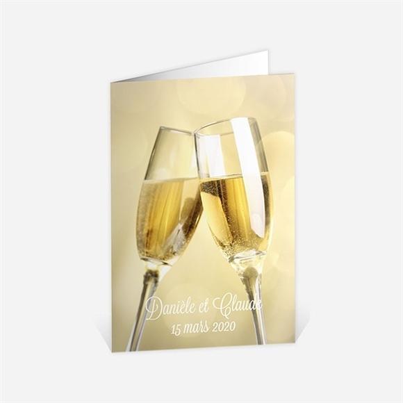 Menu anniversaire de mariage Célébrons nos noces d'Or ! réf.N401494