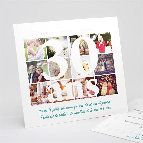Invitation anniversaire de mariage invitation pêle-mêle réf.N311133