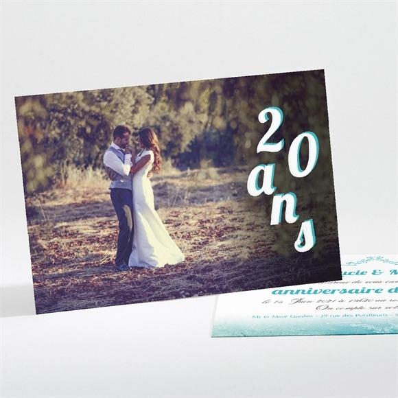 Invitation anniversaire de mariage Carte classique et vintage réf.N11158