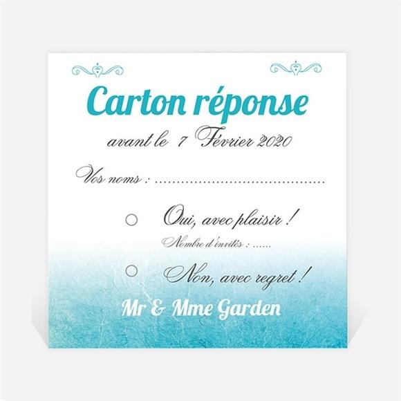 Carton réponse anniversaire de mariage Carte classique et vintage réf.N300487