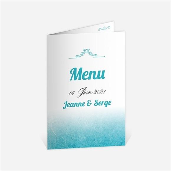 Menu anniversaire de mariage Carte classique et vintage réf.N401500