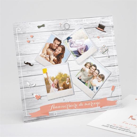 Invitation anniversaire de mariage Elegante carte anniversaire réf.N311136