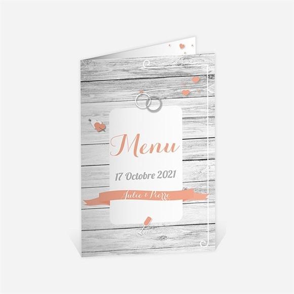 Menu anniversaire de mariage Elegante carte anniversaire réf.N401503