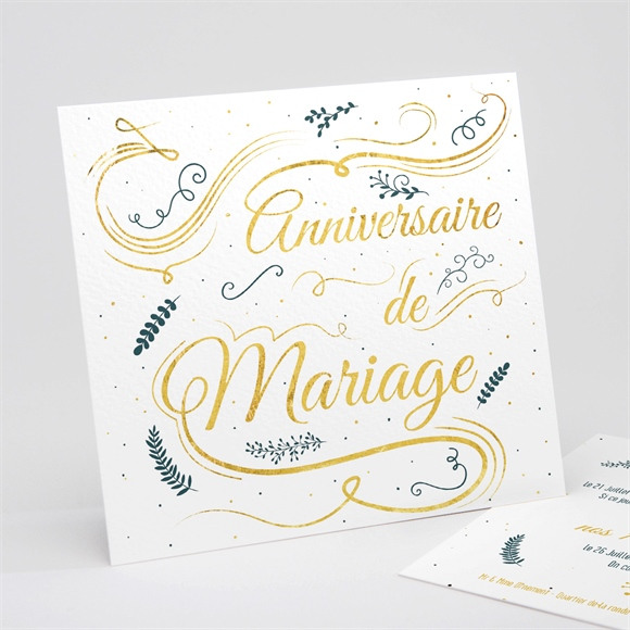 Invitation anniversaire de mariage Carte invitation fun réf.N311137